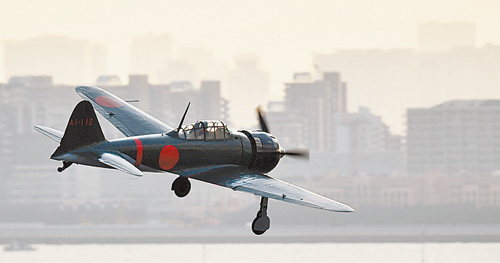 Japanese pilot flies Zero fighter built in 1942