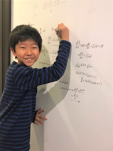 11-year-old whiz kid passes top math test