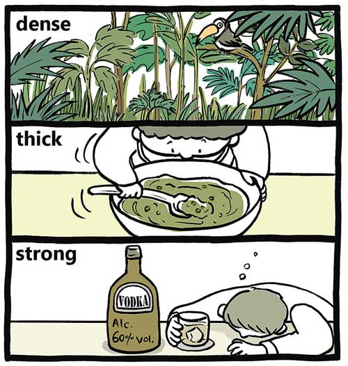dense / thick / strong【濃い】